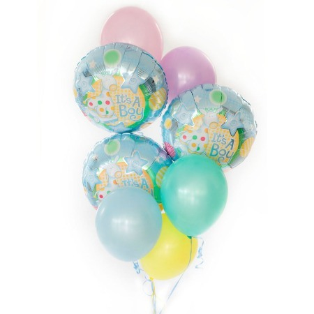 Baby boy Bouquet of 8 balloons added to your gift