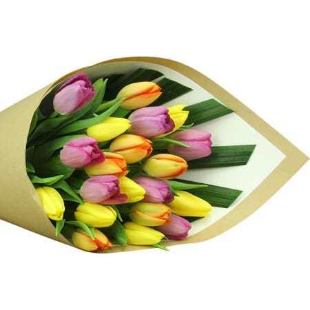 Bright Mixed Tulip Bouquet