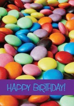 Gift Card With Bright Smarties