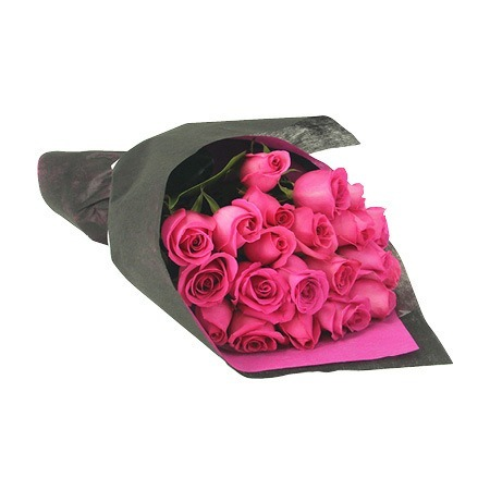 Hot pink roses bouquet delivered in sydney value flowers hot pink rose bouquet mightylinksfo