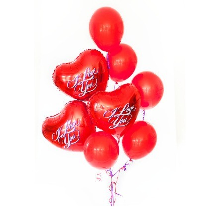 I love you bouquet of 8 balloons added to your gift