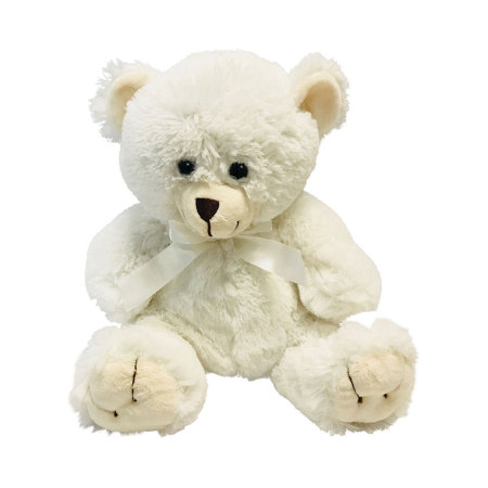 Deliver Cute White Teddy Bear 30cm in Sydney