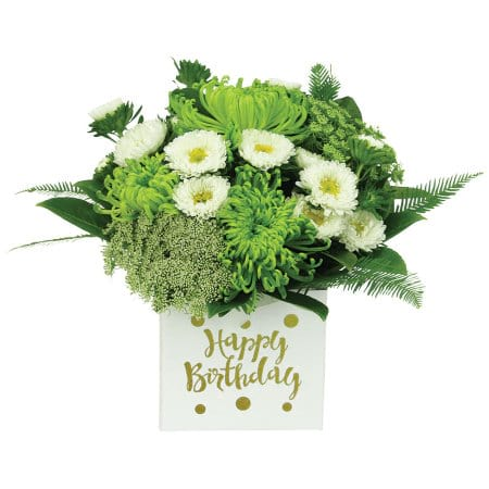 Lime Birthday Flower Box
