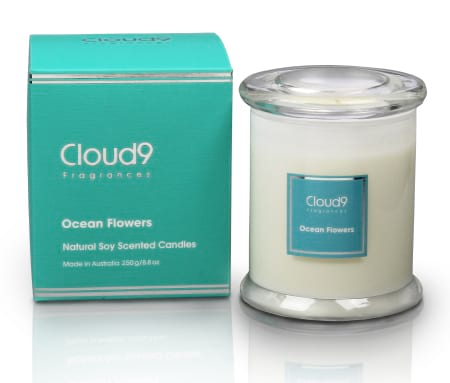 Ocean Flowers Soy Wax Candle 250g