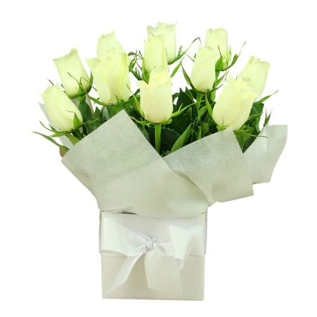 Pure White Rose Box Only 45 Value Flowers Sydney