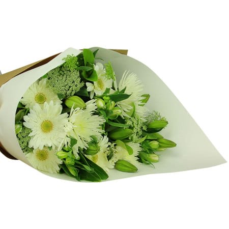 Deluxe White Flower Bouquet