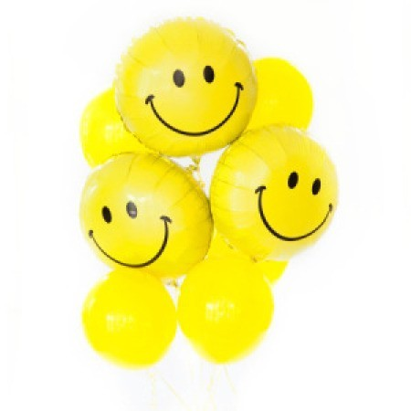 Smiley face bouquet of 8 balloons added to your gift