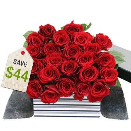 Two Dozen Red Roses Sale