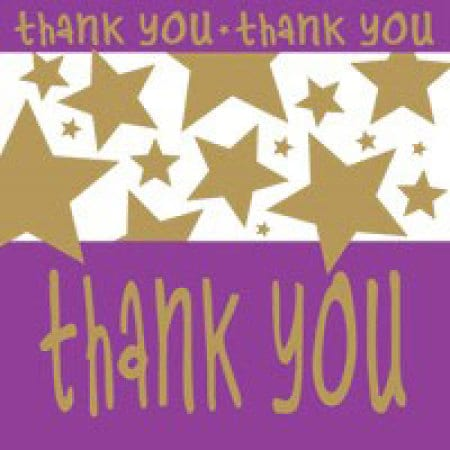 Thank You Card With Stars