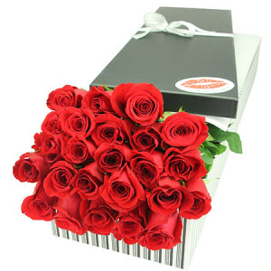 24 Red Roses for Valentines Day