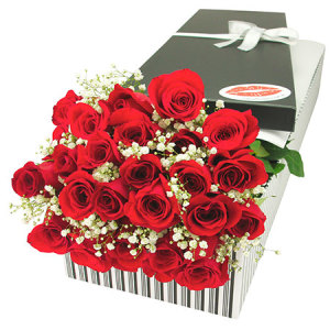 24 Red Roses Oh Baby Gift Box