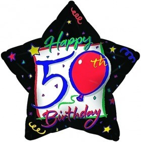 Happy 50th Birthday balloon flowers - florist central coast