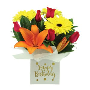 Happy Birthday Flower Box Delivered Sydney