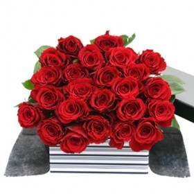24 Red Roses FREE Chocolates flowers - florist central coast