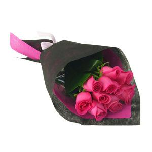 Hot Pink Rose Bouquet (10 Stems)