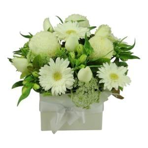 Deluxe White Flower Box