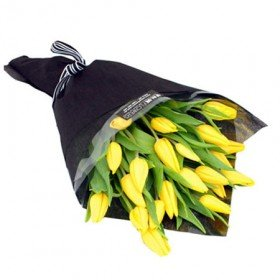 Yellow Tulip Bouquet Delivered