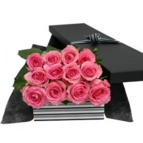 Pink Roses Boxed