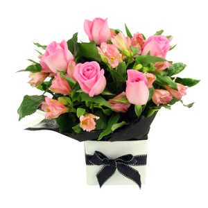 All Pink Box Arrangement