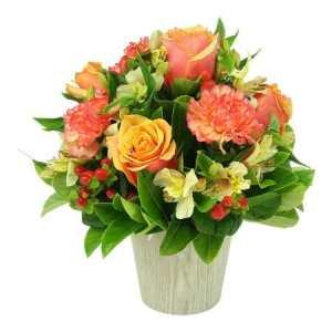 Lush Orange Flower Pot