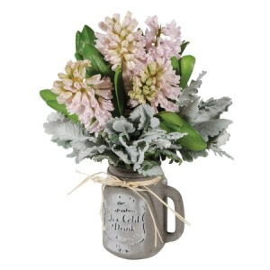 Mason Jar of Fragrant Hyacinth