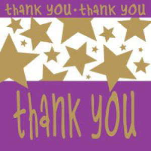 You`re A Star Gift Thank You Card flowers - florist central coast
