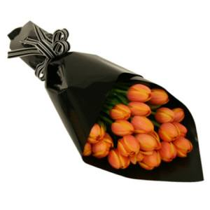 Orange or Purple Tulip Bouquet Delivered