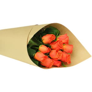Orange Rose Posy