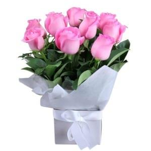 Pretty Pink Rose Box