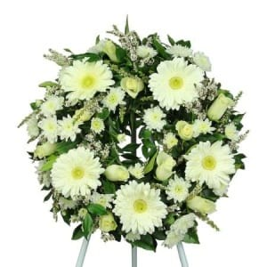 Pure White Sympathy Wreath