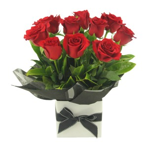 Anniversary Red Roses in Gift Box
