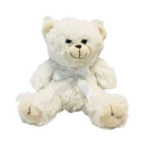 Cute White Teddy Bear (20cm) Delivered Sydney