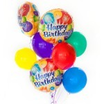 Happy Birthday bouquet of 8 balloons added to your gift