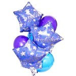 Congratulations bouquet of 8 balloons added to your gift