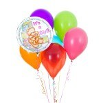 Its a Girl latex balloon bouquet with 1 foil balloon